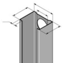 rail cloison r48 30 acier galvanis l 3 m l 48 mm h 30 mm protektor pl tre isolation black. Black Bedroom Furniture Sets. Home Design Ideas