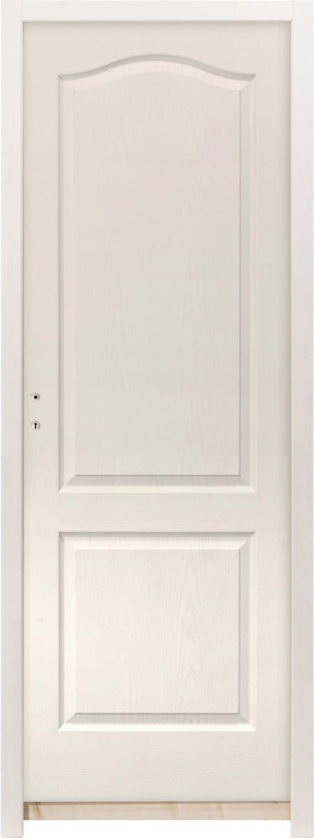 Chauvat Portes Bloc Porte Postforme Alveolaire Prepeint Classic Cg Huisserie H88 Poussant Droit 204x83 Cm Point P
