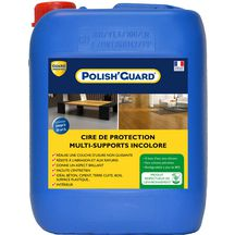 Protection cire de maintenance pour sol Polish'guard bidon de 5 litres