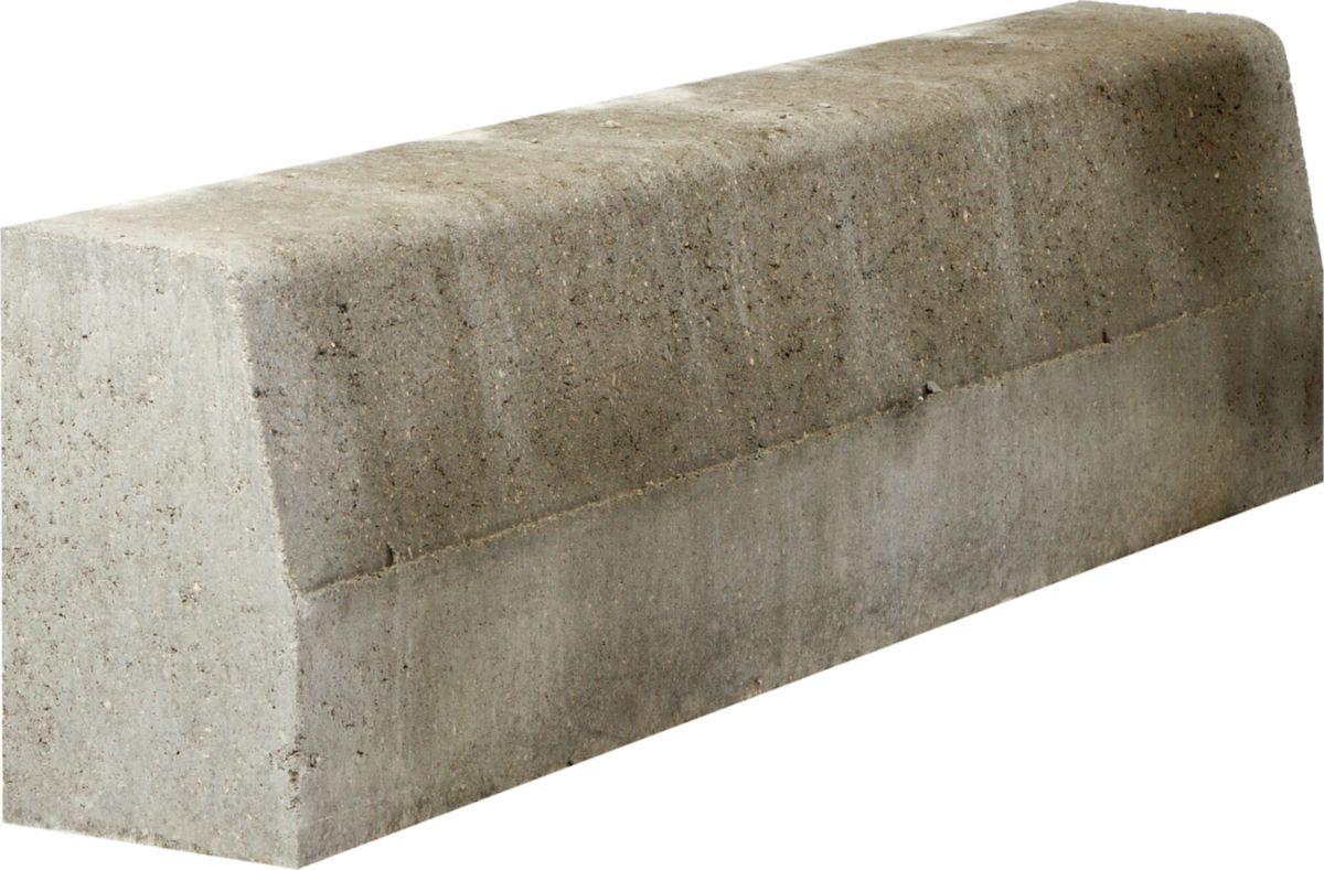 attractive prix bordure beton 1m 7 bordure droite grise. Black Bedroom Furniture Sets. Home Design Ideas