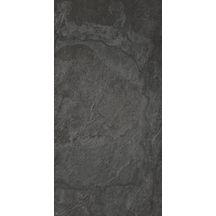 Carrelage ext rieur sol gr s c rame grafite noir naturel - Carrelage gres cerame noir ...