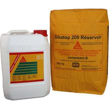 Micro-mortier flexible pr�dos� Top 209 R�servoir blanc - kit 2 composants 36,1 kg