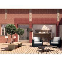plaquette de parement en terre cuite terreal pl01 rouge finition lisse 22x5x1 4 cm bo te de. Black Bedroom Furniture Sets. Home Design Ideas