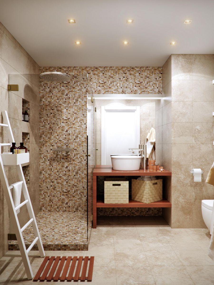 Dalle sol intérieur pierre calcaire naturelle Travertin Moka Light -  finition rebouchée adoucie - 40,6x61 cm - ép. 1,2 cm