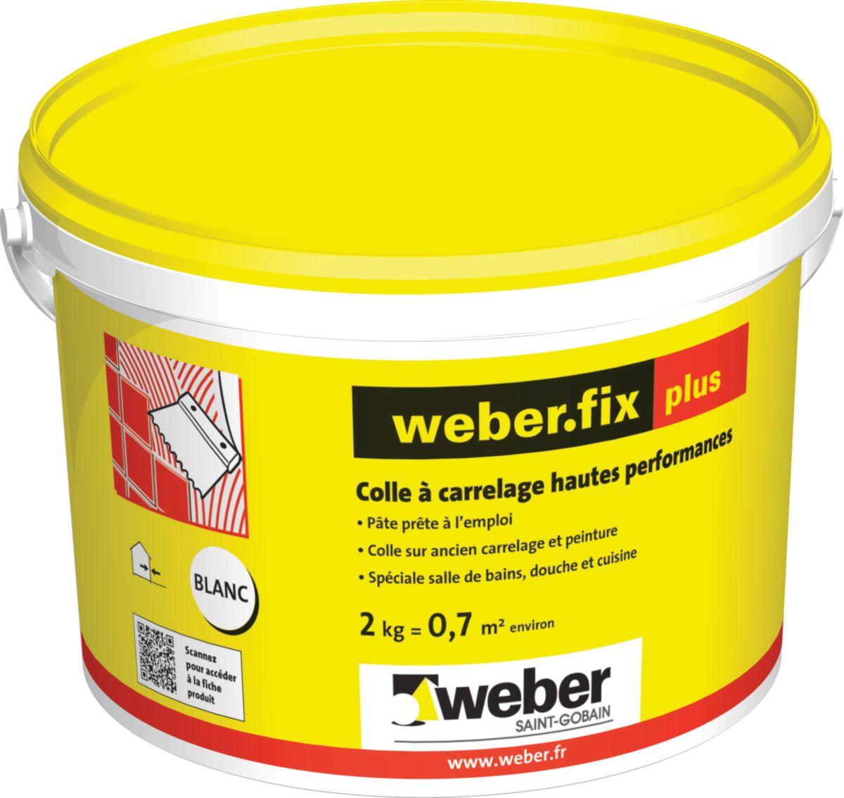 Colle A Carrelage Weber Fix Plus Ex Fermafix Plus Seau De 2kg Ref
