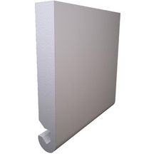 Planche de rive arrondi PVC duo blanc Freefoam - 5000x225x23 mm