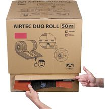 Closoir ventilé Airtec Duo Roll anthracite largeur 310mm rouleau de 50m