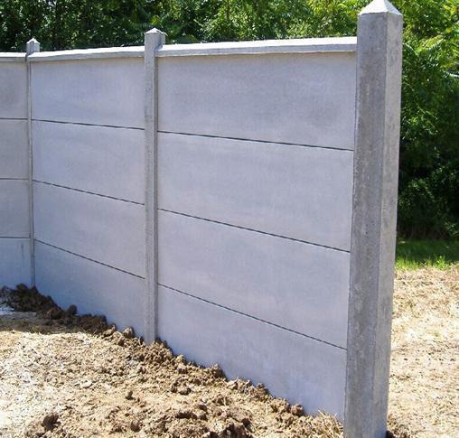 OPL - Plaque de clôture - béton - L. 1,92 m - 50x3,8 cm | Point.P
