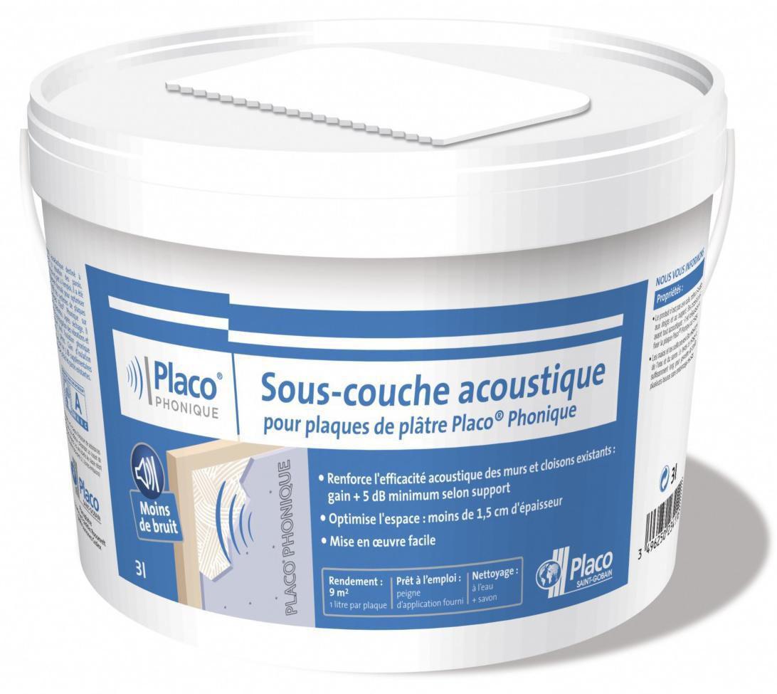 Sous Couche Acoustique Placo Phonique   Seau De 3 L   PLACO   Plâtre    Isolation   ITE   Distributeur De Matériaux De Construction   Point.P