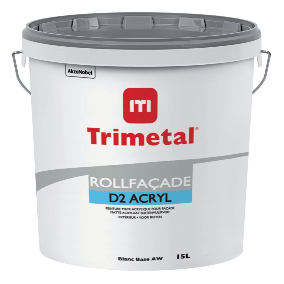 Trimetal Peinture Acrylique De Ravalement Rollfaçade D2 Acryl