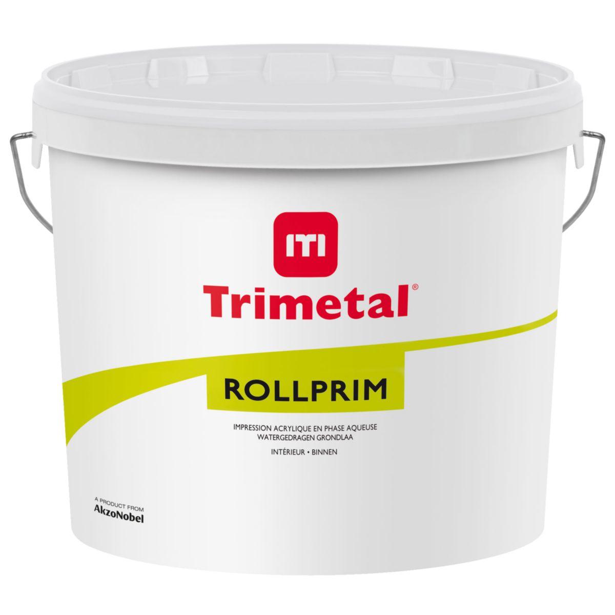 Trimetal Primaire Acrylique Intérieur Rollprim Blanc Pot De 15