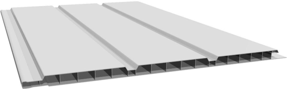 Lambris Alvéolaire 3 Frises - PVC Blanc - L. 4 M - 250x10 Mm