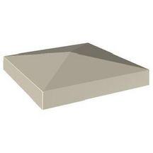 chapeau pilier pointe diamant ton pierre 40x40x4 cm weser d coration ext rieure. Black Bedroom Furniture Sets. Home Design Ideas