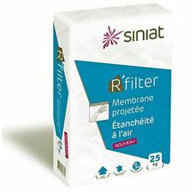 Enduit �tanch�it� � l'air / membrane projet�e Siniat R'Filter 25 kg