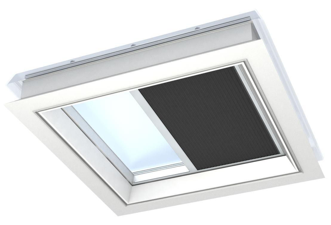 Velux Store Solaire Obscurcissant Integra Fsk Pour Toit Plat Noir 120x120 Cm Point P