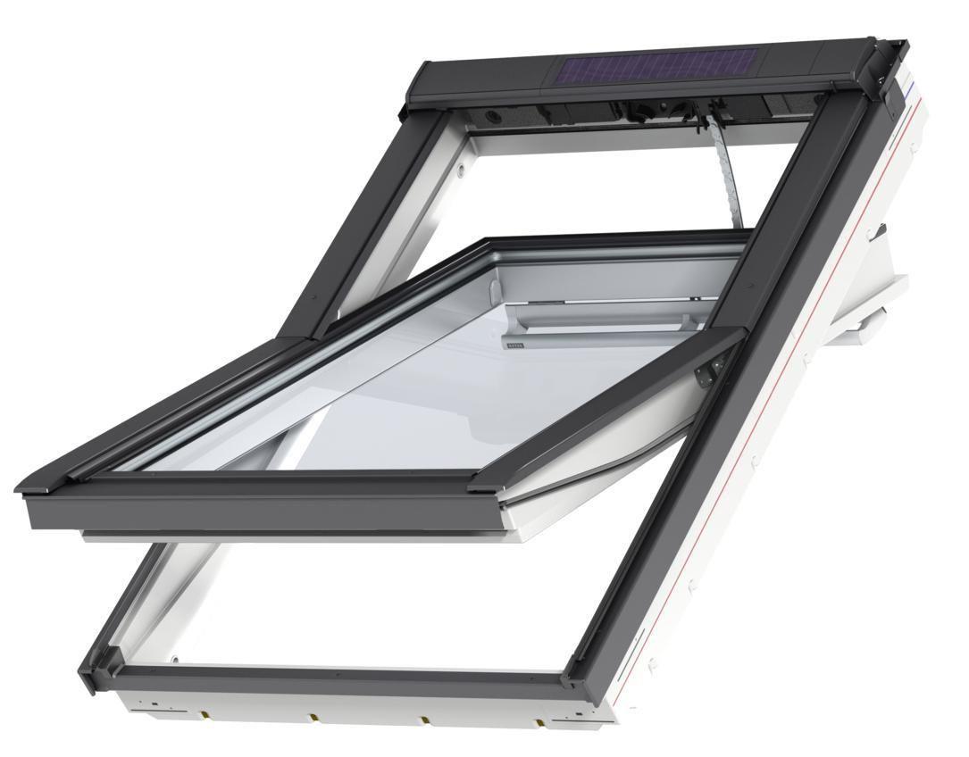 velux fen tre de toit integra solar ggu sk06 114x118 cm version tout confort finition blanche