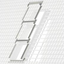 raccord ekw jumo w pour fen tre de toit mk04 78x98 cm pose traditionnelle sur tuiles gris. Black Bedroom Furniture Sets. Home Design Ideas
