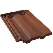 Tuile terre cuite belmont monier rouge vieilli 465x326 mm monier toiture charpente for Distributeur tuiles monier