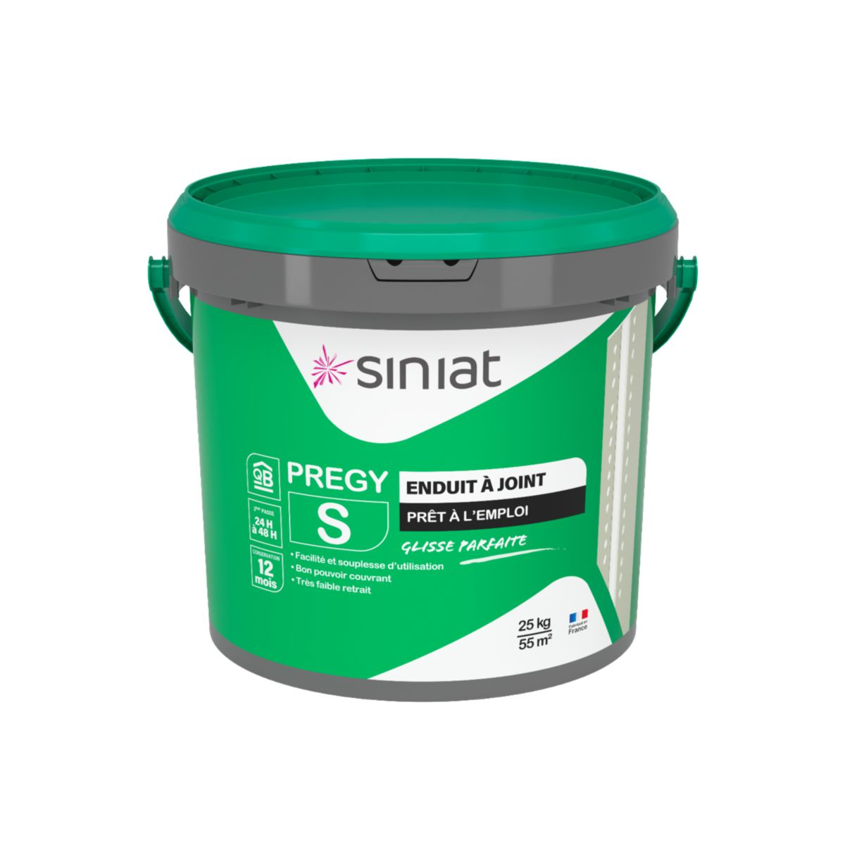 enduit joint schage prt lemploi prgy s pe seau de 25 kg siniat pltre isolation ite distributeur de matriaux de construction point