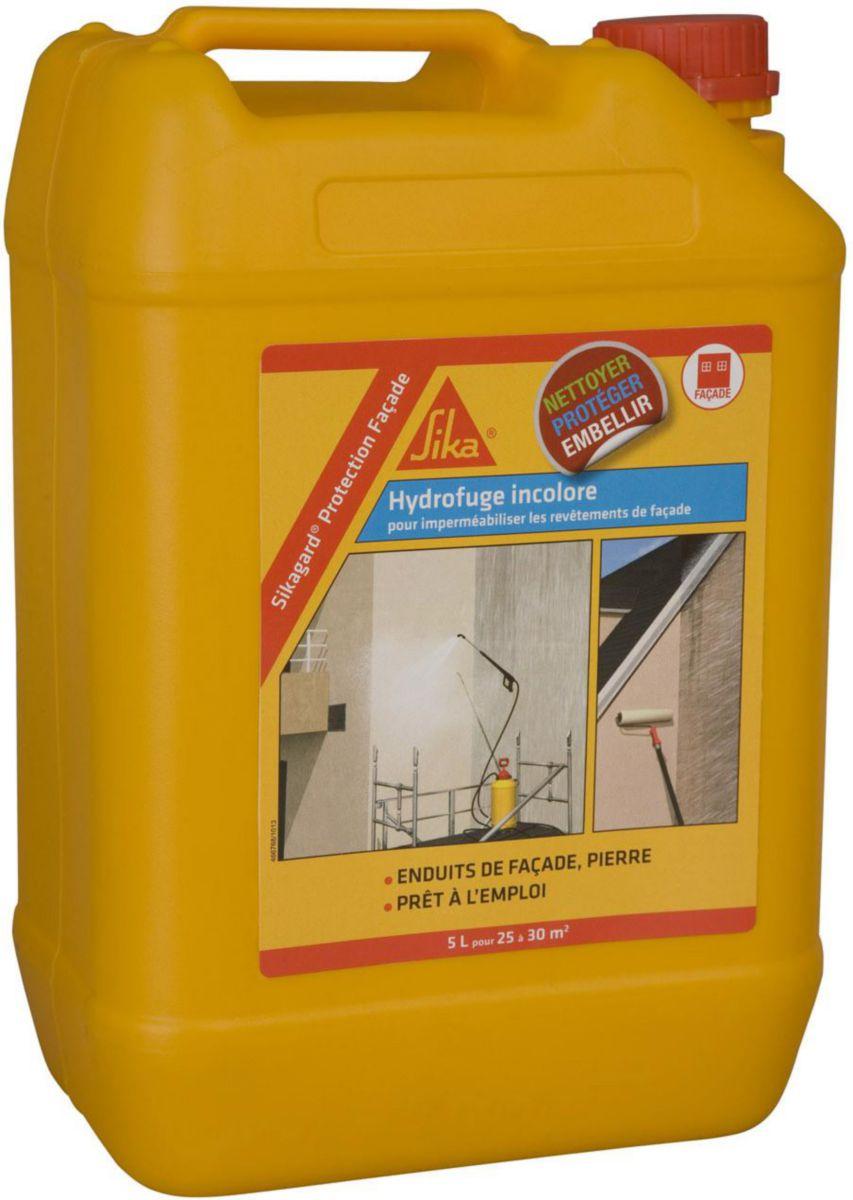 hydrofuge de protection de faade sikagard bidon de 5 l sika gros oeuvre bpe voirie tp distributeur de matriaux de construction pointp