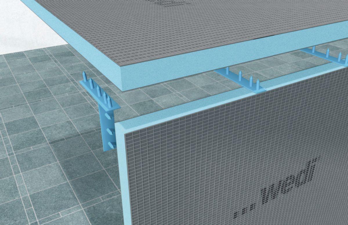 Panneau de construction à carreler Wedi 2500x600x40 mm