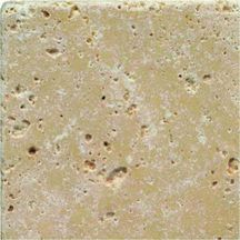 Pierre naturelle Les Pierres Eternelles travertin blanc-beige finition vieillie (10x10x1 cm)