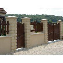 El ment de pilier bossel weser 30x30x16 7 cm ton pierre weser d coration ext rieure - Element de pilier 40x40 ...