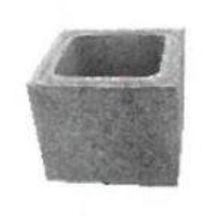 Boisseau Pour Conduit De Fumee Beton Pouzzolane 24x26x26 Cm