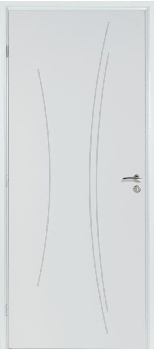BlocPorte Isolant Kaori Blanc  Huisserie Sapin  Mm  X Cm