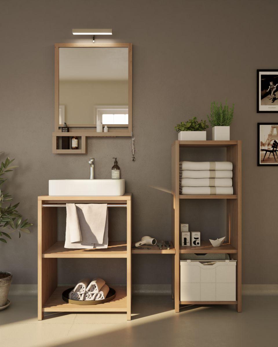 collin arredo meuble sous vasque pin 2 tag res modulin. Black Bedroom Furniture Sets. Home Design Ideas