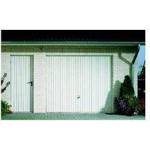 Porte De Garage Basculante à Portillon Gauche Motif Blanc H - Porte de garage tubauto