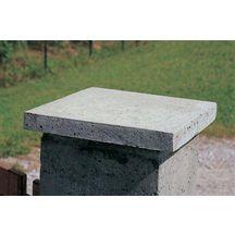 chapeau de pilier plat b ton gris 40x40x3 5 cm daulouede d coration ext rieure. Black Bedroom Furniture Sets. Home Design Ideas