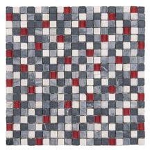 mosaque mur marbre arte one marbre noir blanc verre rouge mat brillant 1 - Mosaique Salle De Bain Rouge