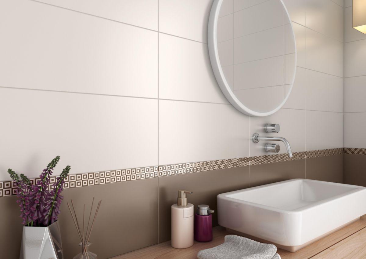 CINCA - Carrelage mural intérieur faïence Bel Air - blanc mat - 25x55 cm | Point.P