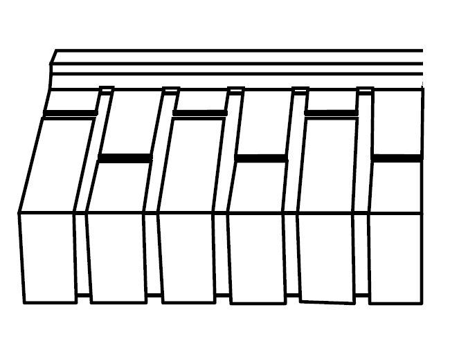 terca appui de fen tre appuikit 35 brique lisse unie. Black Bedroom Furniture Sets. Home Design Ideas