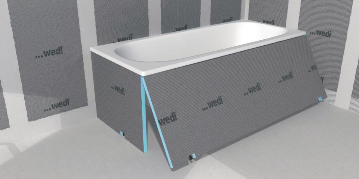 tablier baignoire à carreler bathboard wedi 1800x60x20 mm - wedi