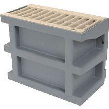 Courette anglaise grille sable nicoll 260x135x200 mm - Grille de ventilation vide sanitaire ...