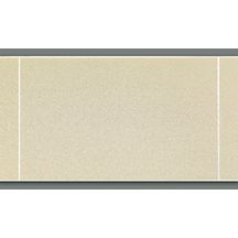 Lambris PVC imitation carrelage décor craie satiné 10x250x1200 mm
