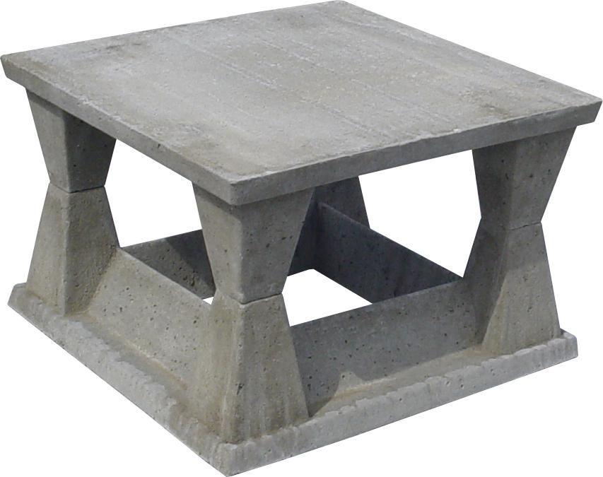 Chemin e 4 vents - Chapeau de cheminee en beton ...