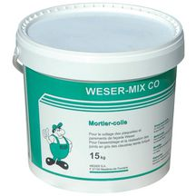 Mortier-colle Weser-Mix CO gris - seau 15 kg
