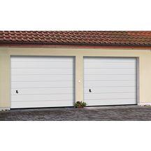 Porte garage sectionnelle pr mont e rainures m dble paroi woodgrain blanc ral 9016 avec serrure - Porte de garage sectionnelle tubauto ...