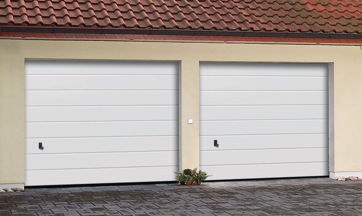tubauto distribution sas porte garage sect europro pr m acier double paroi nerv wood blanc