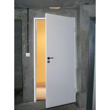 Bloc-porte de service acier réversible - vantail nervuré prépeint blanc -  200x84,5 11149e07ec8