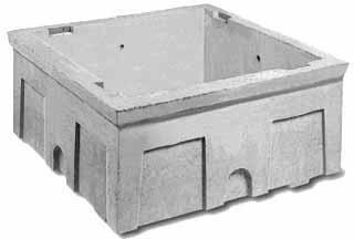 Abri Monobloc Pour Compteur Deau Béton 80x80x40 Cm