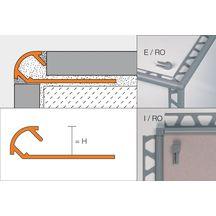 profil d 39 angle sortant schl ter rondec ac alu blanc brillant l 2 50 m p 8 mm. Black Bedroom Furniture Sets. Home Design Ideas