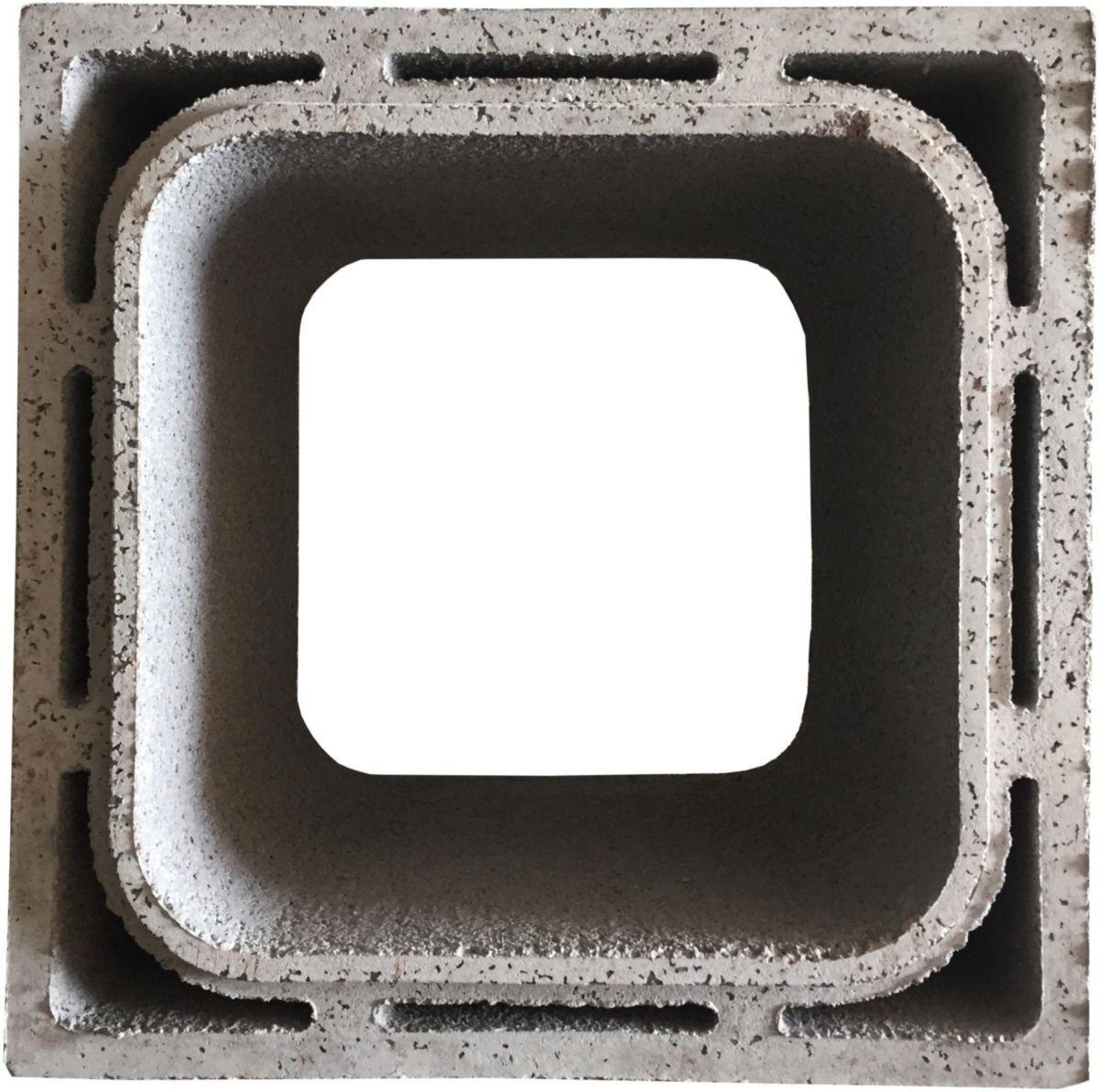 Boisseau Cbr5 30x30x33 Cm Beton Pouzzolane Allege Novatab