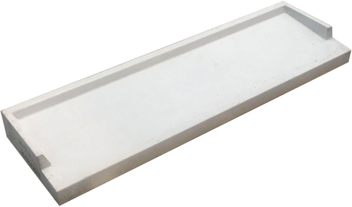 Adg Beton Appui De Fenêtre Béton Gris L 130 Cm L 35 Cm