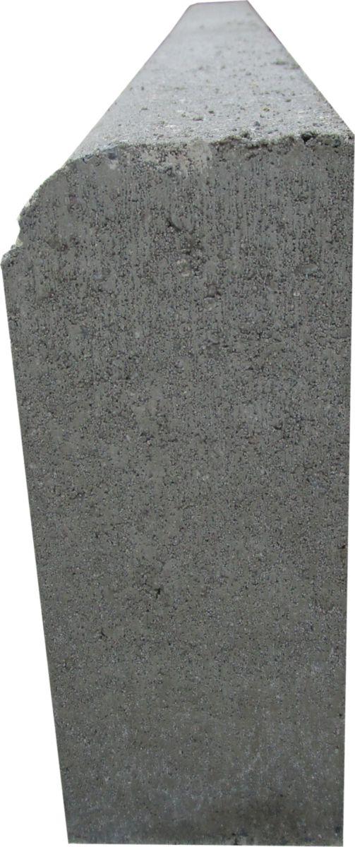 Bordure Inclinée En Béton P1 Classe T Grise L 1 M