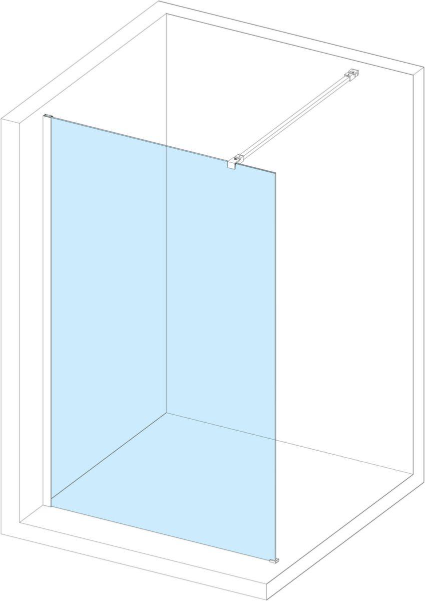 alterna paroi de douche droite concerto 138 140 cm. Black Bedroom Furniture Sets. Home Design Ideas
