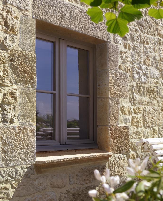 Appui De Fenêtre Mouluré Ton Terre De Sienne 35x120 Cm